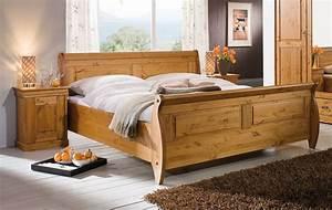 Schlafzimmer Set 3teilig Kiefer Massiv Honigfarben Lackiert