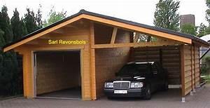 garage bois et abris voiture vendu en kits maison bois With garage en bois en kit