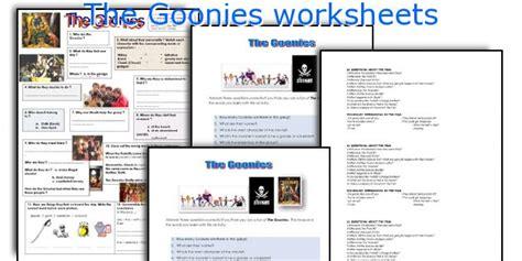 teaching worksheets the goonies