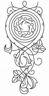 Tattoo Patterns Embroidery Elven Designs Urban Celtic Rose Threads Drawings Elvish Tattoos Drawing Knotwork Google Pattern Templates Visit Stitch Cascade sketch template