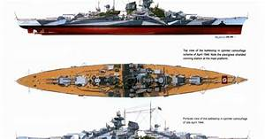 Diagram Of The Battleship Tirpitz