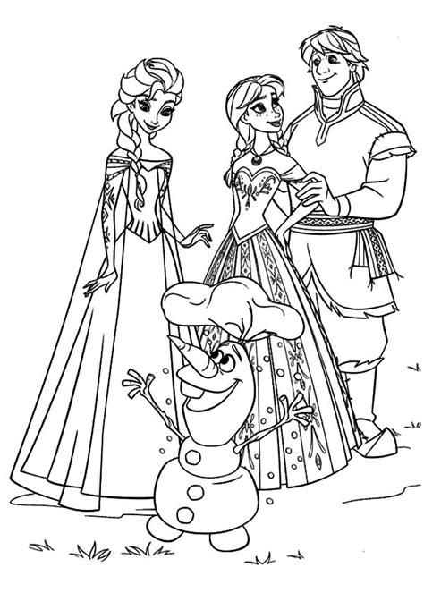 kristoff  princess anna gather  queen elsa  olaf