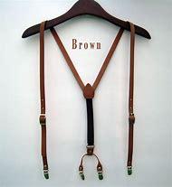 Mens Leather Suspenders Y-Back Retr…