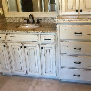 distressed vanity cabinets