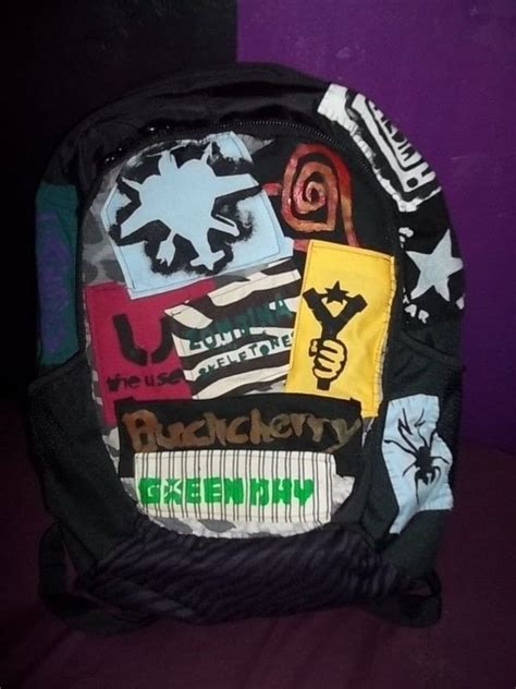 diy patched school bag  backpack art drawing
