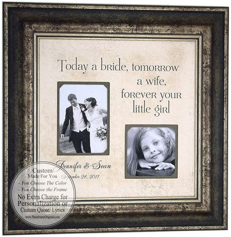 personalized wedding gifts  parents mom dad sign