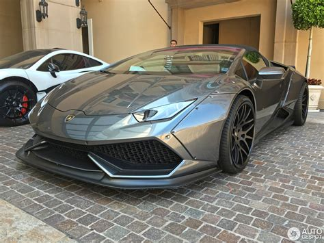 grey liberty walk lamborghini huracan spyder front side