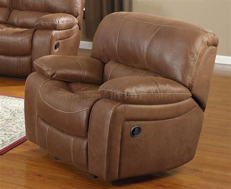 Chocolate Bonded Leather Modern Motion Loveseat Sofa W
