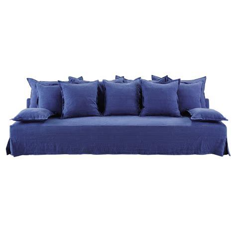 canape bleu indigo canapé 4 places en bleu indigo alberto lelogisdelagrange