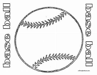 Coloring Pages Sports Ball Baseball Boys Printables