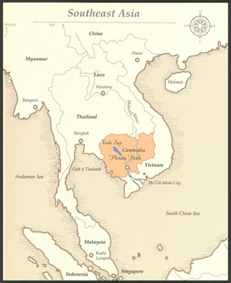 map cambodia neighbouring countries