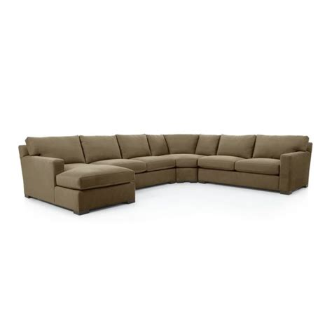 axis ii 4 piece sectional sofa crate and barrel