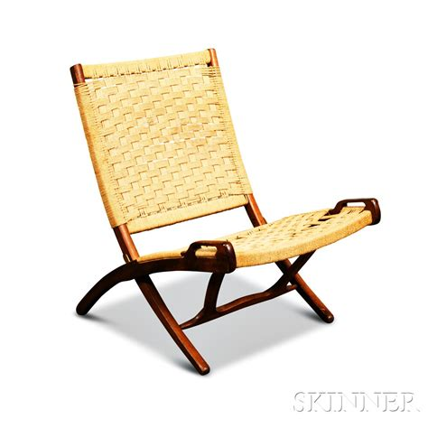 wegner style teak folding rope chair sale number 2881t
