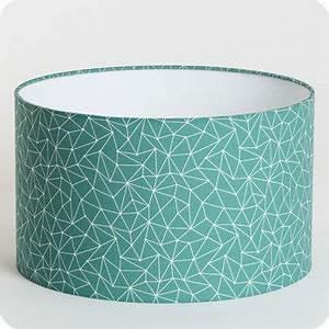 Abat Jour Vert : abat jour design pour lampe lampadaire ou suspension en tissu motif graphique vert cactus ~ Teatrodelosmanantiales.com Idées de Décoration