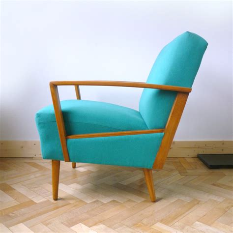 mid century entry teal retro armchair from drab to dreamy florrie bill