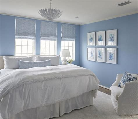 white  blue cottage bedroom boasts walls painted