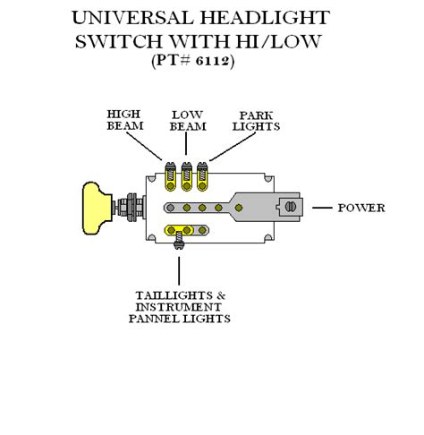 To A 38 Chevy Headlight Switch Wire Diagram