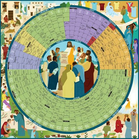 ygll liturgical calendar large laminated