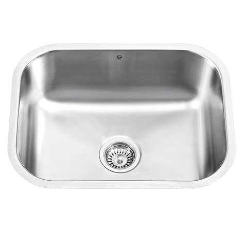 stainless steel undermount kitchen sink bowl vigo undermount stainless steel 17 8 in single bowl 9785