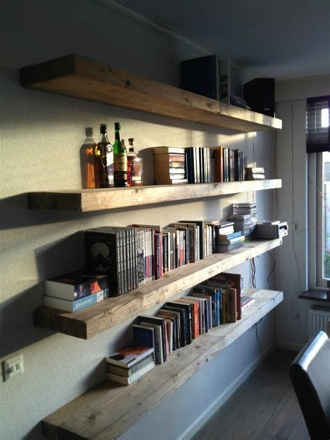 Wall Mountable Bookshelves by 53 18 Inch Floating Shelves Rustic Floating Shelves