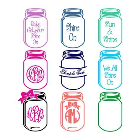 mason jars svg cuttable designs