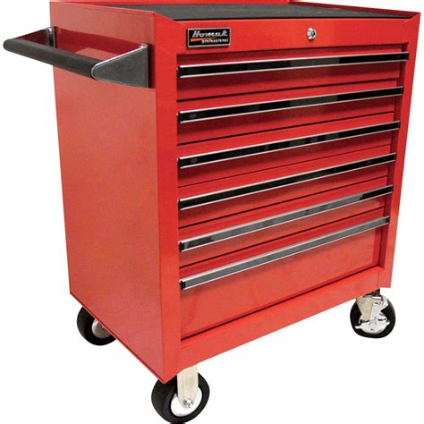 homak pro series 27in 6 drawer rolling tool cabinet 26 3 4in w x 18in d x 31 1 2in h tool