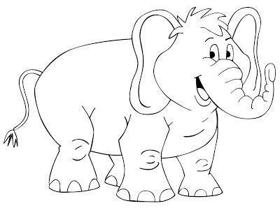 Coloring Gajah by Mewarnai Hewan Gajah