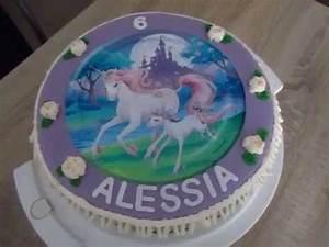 Einhorn Aufleger Torte Mit Buttercreme Dekoration