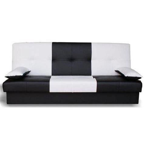 photos canapé noir et blanc convertible