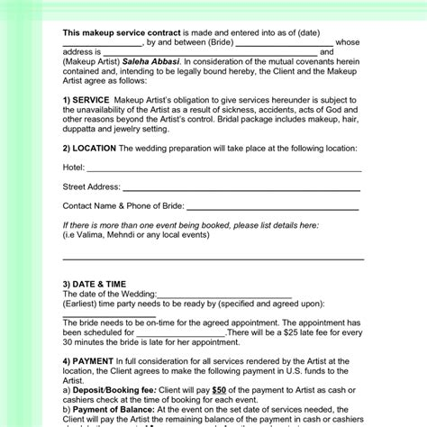 wedding flower contract sle life style by modernstork com