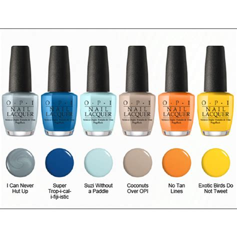 opi color names in the east opi fiji inspired polishes for