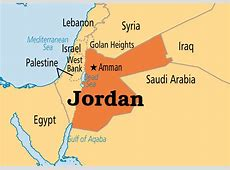 Map of Jordan and surrounding countries Connect the Cultures