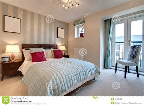 sophisticated modern bedroom stock photo image of