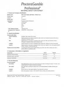 bleach msds data sheets images frompo