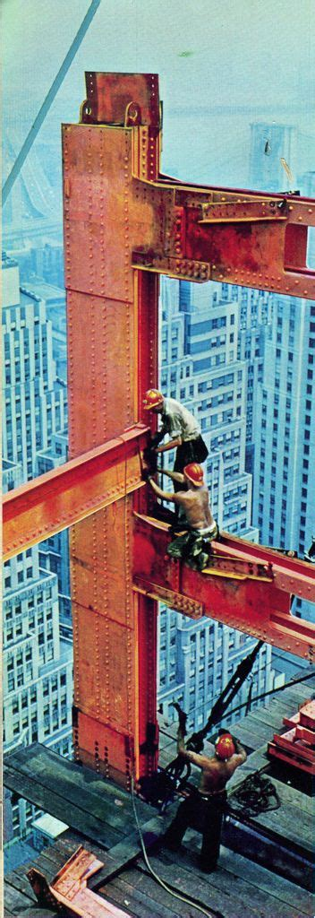 Chase Manhattan Bank ..Construction workers putting a ...