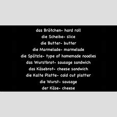 Deutscher Essenwortschatz #1 (german Food Vocabulary #1)  Deutsch Lernen Youtube