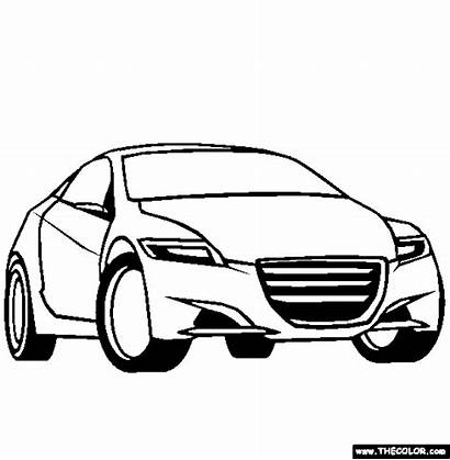Coloring Cars Pages Cartoon Gta Concept Printable