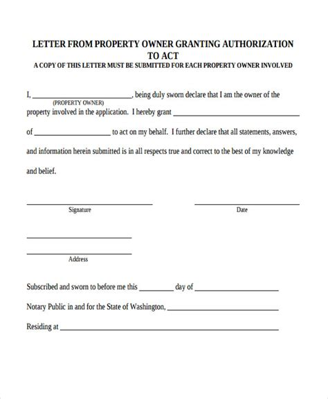 property transfer letter templates