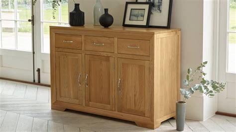 sideboards plentiful storage  display oak furniture