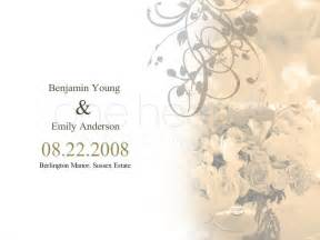 programs for weddings templates flower wedding powerpoint slide 1