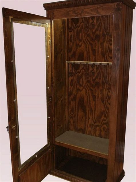 build your own gun cabinet easy to follow gun cabinet plans for the home pinterest