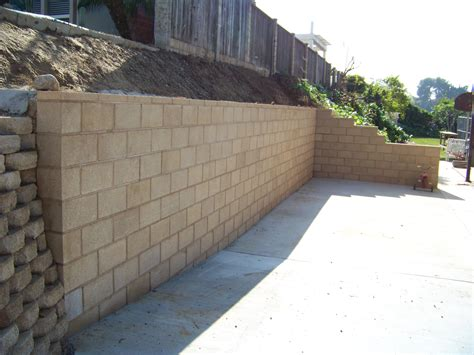 retaining concrete wall block retaining wall design manual home design ideas