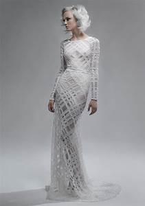 dress of the week paolo sebastian bridal tribe With geometric wedding dress