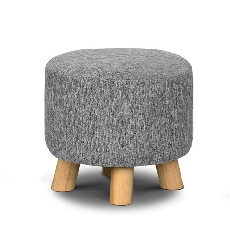 Padded Footstool With Storage by Artiss Fabric Ottoman Foot Stool Rest Pouffe Footstool