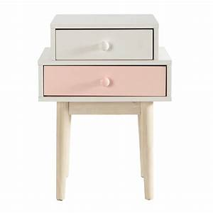 table de chevet en bois blanche l 42 cm blush maisons du With chevet maison du monde