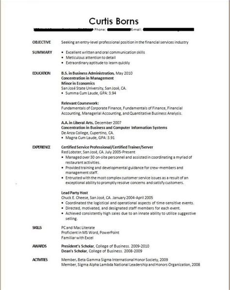 pin by resumejob on resume job pinterest sle resume