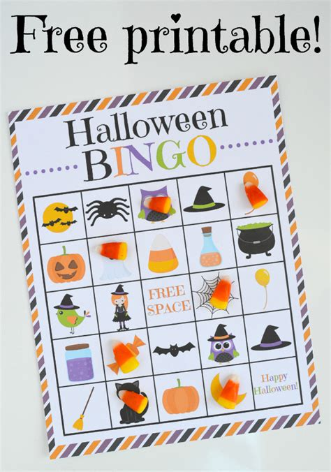halloween bingo  printable  images