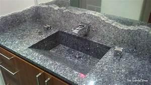 Blue Pearl Granit : blue pearl granite vanity built in sink contemporary bathroom dallas by the granite shop ~ Orissabook.com Haus und Dekorationen