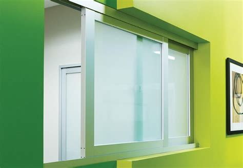reception glass windows sliding pass  windows