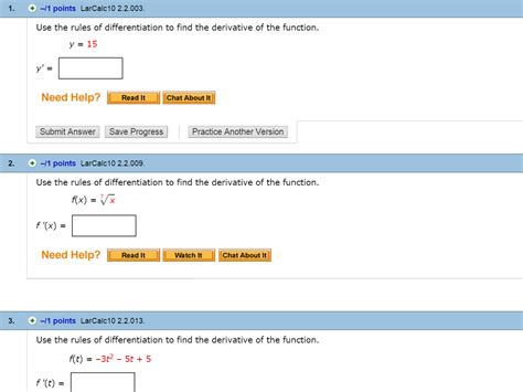 solved use the of differentiation to find the deriv chegg